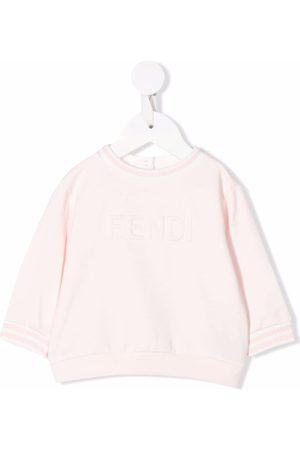 Fendi Embossed-logo stretch-cotton sweatshirt