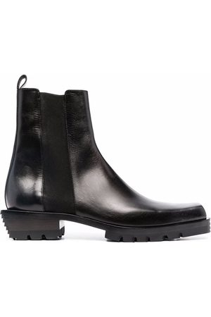 Cesare Paciotti Sculpted-heel leather Chelsea boots