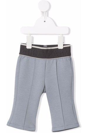 Emporio Armani Sweatpants - Logo waistband track pants - Grey