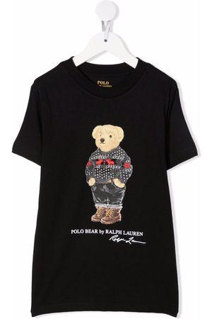 Ralph Lauren Boys Polo Shirts - Polo Bear print T-shirt
