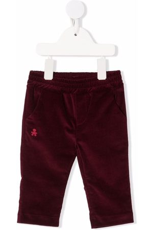 Le Bebé Enfant Straight - Logo-embroidered straight trousers