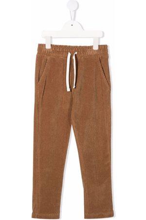 Paolo Pecora Boys Straight Leg Pants - Corduroy straight leg trousers - Neutrals