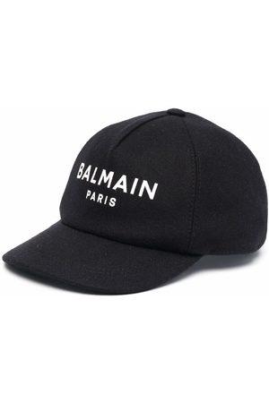 Balmain Boys Caps - Logo-print baseball cap