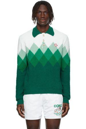 Casablanca Men Polo Shirts - Cotton Bouclé Degradé Polo
