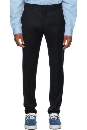 Ami Virgin Wool Cigarette-Fit Trousers