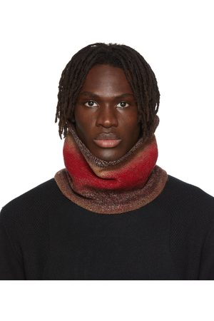 WOOYOUNGMI Men Scarves - SSENSE Exclusive Red Knit Neck Buff Scarf