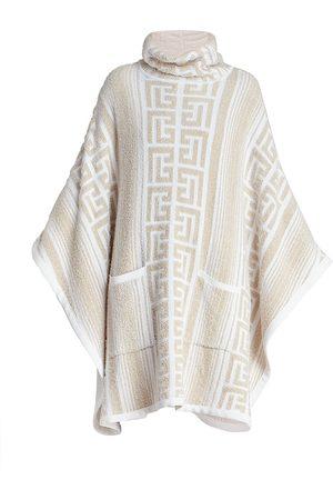 Balmain Women Ponchos & Capes - Monogram Knit Poncho