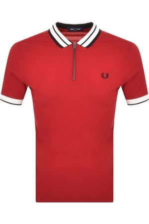 Fred Perry Half Zip Polo T Shirt