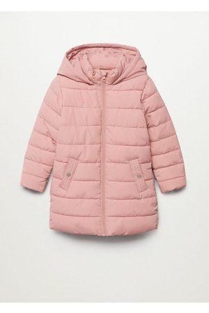 MANGO Girls Coats - Hood quilted coat