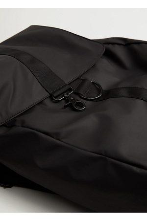 MANGO Lapel mixed backpack