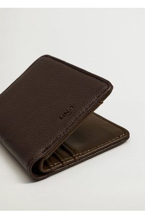 MANGO Pocket pebbled wallet
