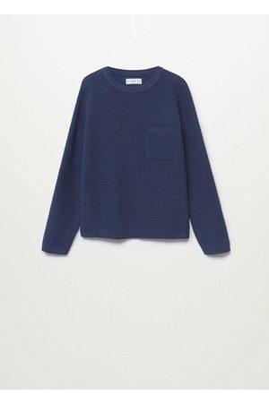 MANGO Boys Cardigans - Knit pocket sweater