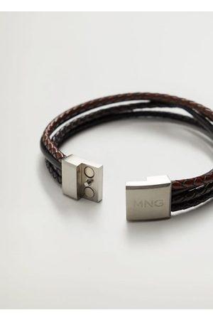 MANGO Leather mixed bracelet