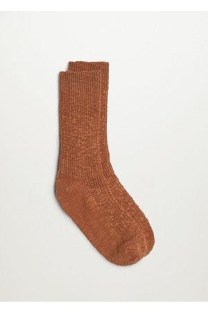 MANGO Women Socks - Ribbed cotton socks