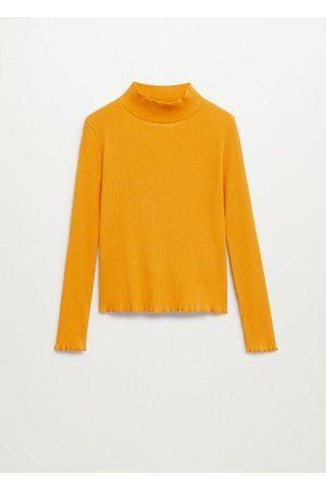 MANGO Girls Long Sleeve - Ribbed long-sleeved t-shirt
