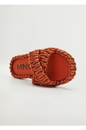 MANGO Women Sandals - Fabric sandals with knots