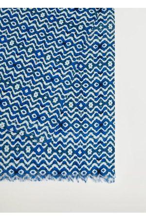 MANGO Printed cotton scarf