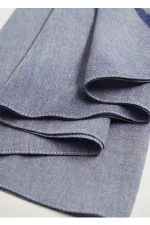 MANGO Twin-tone cotton scarf