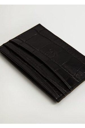 MANGO Croc-effect card holder