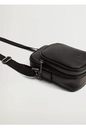 MANGO Men Rucksacks - Leather effect cross body bag