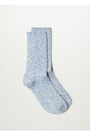 MANGO Ribbed cotton socks /pastel purple