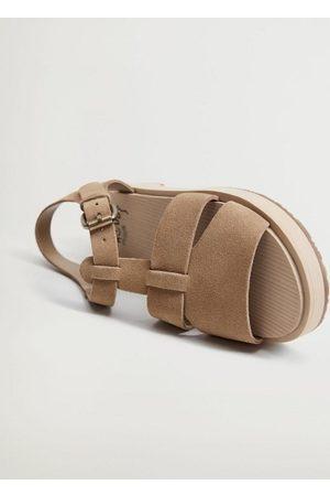 MANGO Girls Sandals - Buckle leather sandals