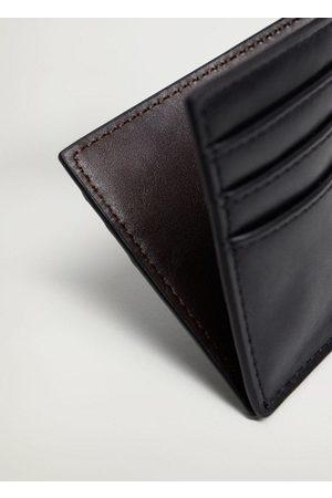 MANGO Faux leather cardholder