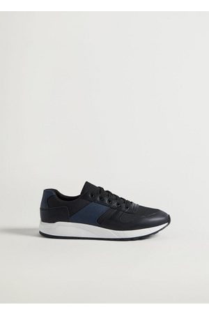 MANGO Men Sneakers - Lace-up mixed sneakers