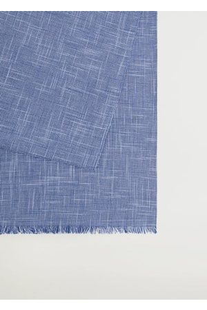 MANGO Men Scarves - Houndstooth cotton scarf