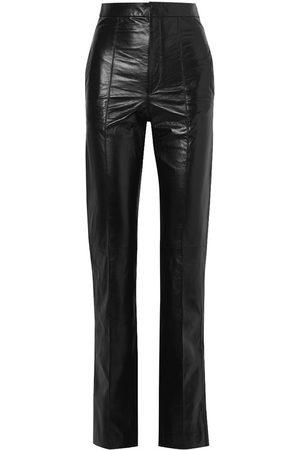 Isabel Marant Women Leather Pants - Bilirokia Leather Straight-Leg Pants