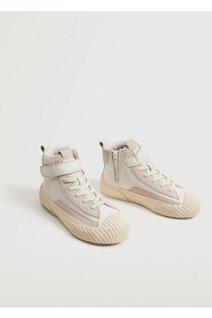 MANGO Velcro fastening leather sneakers