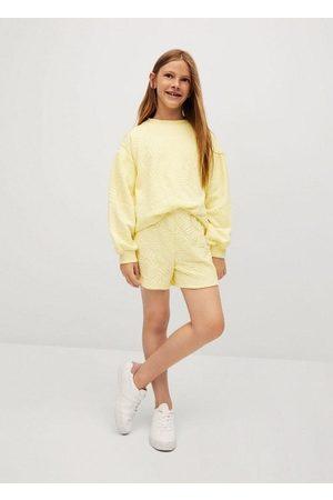 MANGO Leaves texture sweatshirt