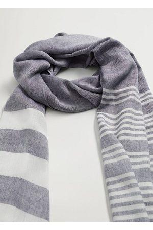 MANGO Striped lightweight scarf