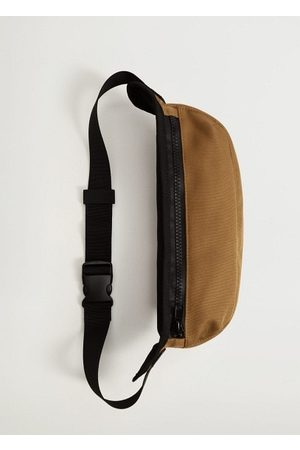 MANGO Canvas belt bag with zipper