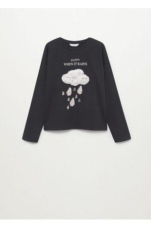 MANGO Girls Long Sleeve - Embossed long-sleeved t-shirt