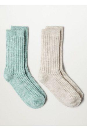 MANGO 2 pack ribbed socks