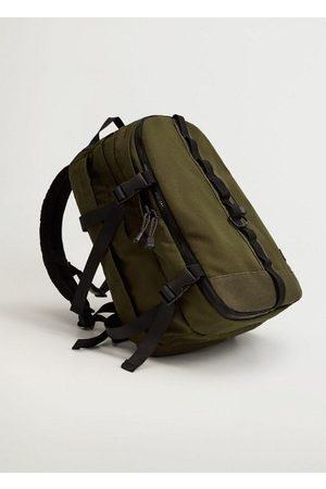 MANGO Men Rucksacks - Multi-functional canvas backpack