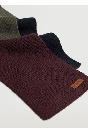 MANGO Boys Scarves - Tricolor knit scarf