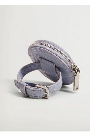 MANGO Croc-effect purse bracelet