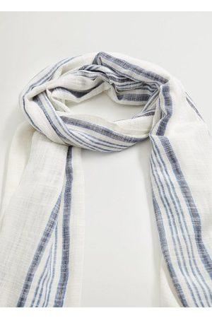 MANGO Men Scarves - Stripe-pattern cotton scarf
