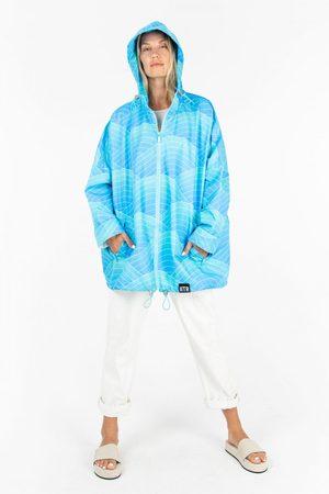 Insane In The Rain Women Rainwear - Happy Jacket in Ocean Rays