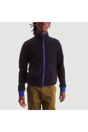 Aigle Men Fleece Jackets - Farom polartec zipped fleece jacket Marine