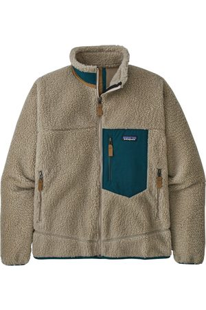 Patagonia Men Fleece Jackets - Chaqueta Ms Classic Retro-X Fleece - Pelican/Dark Borealis Green (PEBG)