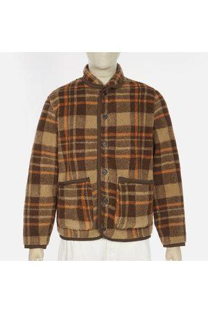 Universal Works Men Fleece Jackets - Sherpa Fleece Lancaster Jacket - Check