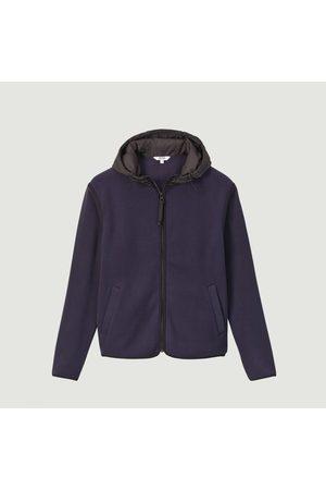 Aigle Men Fleece Jackets - Fadum hooded fleece jacket Marine