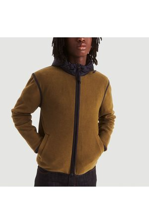 Aigle Men Fleece Jackets - Fadum hooded fleece jacket Kaki