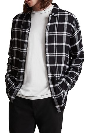 AllSaints Arline Long Sleeve Plaid Shirt