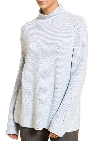 Persona by Marina Rinaldi Ambrosia Metallic Mock Neck Sweater