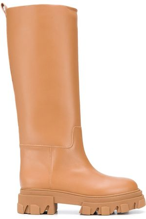 GIA Leather Combat Boot- Woman
