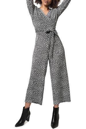 Leota Kayla Cheetah Print Jumpsuit